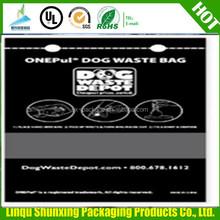 pull DOG WASTE BAG ON ROLL / yellow dog poop bag