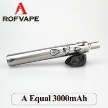 2015 new products for women A Equal 3000mah vapor batterie tube kit similar ego-t electronic cigarette