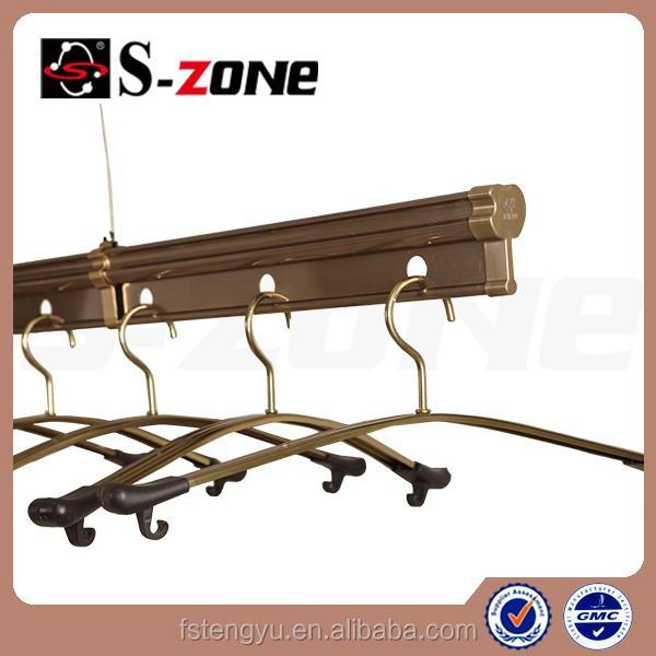 balcón de techo de aluminio ajustable al aire libre ropa bastidores de secado con control de la mano