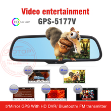 backup camera gps mirror with High Resolution Camera DVR,different Country Map,Bluetooth,FM Transmitter,MP3,MP4,MP5