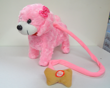moving toy dog walking and sound toy plush animal with classic IC