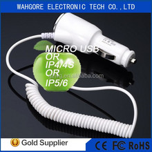 1A output usb car charger for iphone 6 car charger