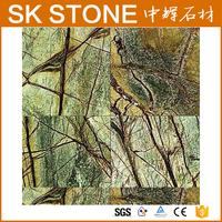 12x12 Polished Rain Forest Marble Tile non slip ceramic floor tile tile floor plant