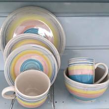 20pcs ceramic handprinted stoneware
