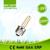 Made in China high lumen replace halogen lamp 20w g45 2w led filament bulb dimmable