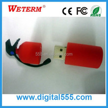 Custom Fire Extinguisher PVC 1GB 2GB 4GB 8GB usb flash memory