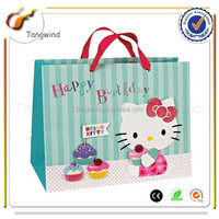 (TWS140512) Eco-friendly cheaper Printed Natural coated paper shopping bag,good quality fast delivery