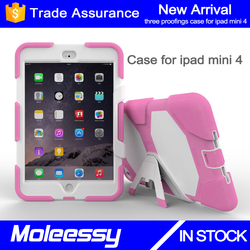 Very cute popular drop resistance wholesale tablet silicon case cover for iPad mini 4