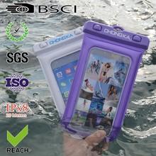 2015 black tpu waterproof mobile phone bag for iphone 4