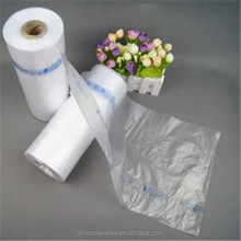 2015 popular white plastic shopping bag on roll