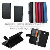 Wallet flip leather case for LG Optimus G Pro
