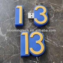 School Item Digit 13 Shape USB Drive