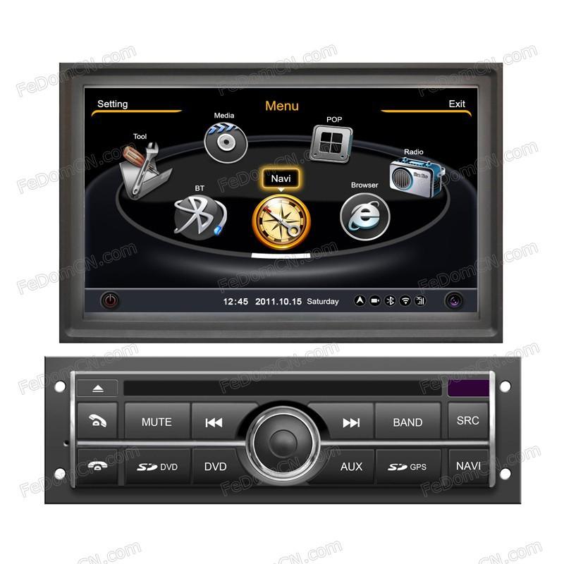 In Dash Car Navigation Systems : In dash car dvd player gps system radio tv bluetooth
