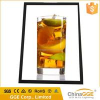 Reliable quality slim aluminum edge lit LED light up poster frame