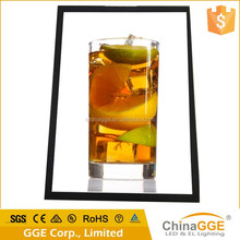 Reliable quality slim aluminum edge lit LED light up poster frame