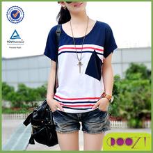2015 New arrive summer popular woman t-shirt stylish blank cheap custom t-shirt