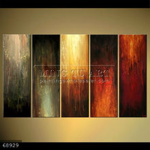 Handmade Modern Group Abstract Oil painting on canvas, CHANGE