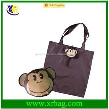 Custom design animal monkey shaped foldable shopping bag