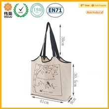Hot sale wholesale canvas reusable recycled shopping bag