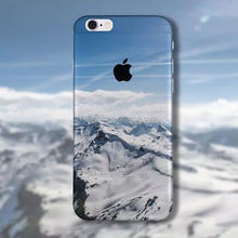 Snow Mountain UV Printing Phone case 3D painting tpu mobile cover for iPhone 6