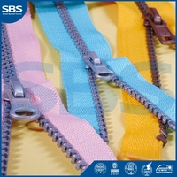 nylon invisible zipper in guangdongfor suits,SBS two sided zipper slider nylon zipper,10# Open-end plastic zipper