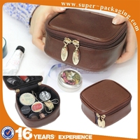 waterproof pu leather small cosmetic bag for packaging travel makeup