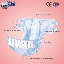pink disposable diapers china manufactory