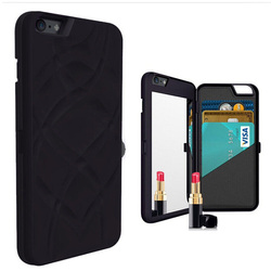 back double cellphone case for iphone 6 with real mirror