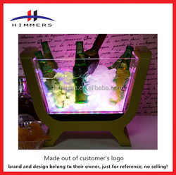 2015 wholesale large capacity acrylic ice bucket beer cooler