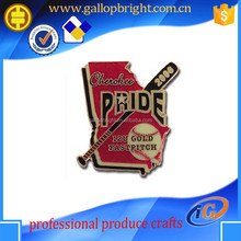2015 high quality gold metal military badge custom