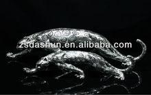 Exquisito 2014 antiguo de leopardo figurita decoración del hogar perfecto& de gama alta de regalo de empresa