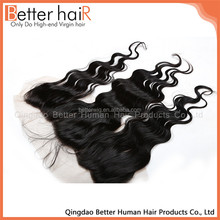 Grade 7A Human Lace frontal Best 7A Body Wave Hair Weave