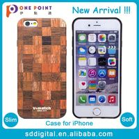 Ultra slim wood texture sublimation case for iphone 6S