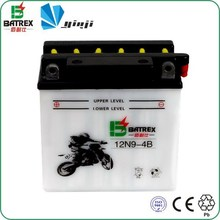 Standard dry charged lead acid 12v 9ah popular motorcycle battery with PE separator
