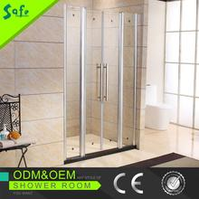 New design Hinge Tempered Glass Shower Screen