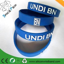 Factory direction low price embossed silicone wristband cheap printing rubber wristband