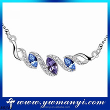 Best products for import wholesale fashion girl alloy three color stone palestine necklace jewelry
