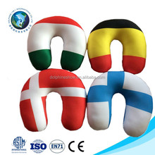 Low MOQ cheap memory foam neck massage pillow promotional neck pillow filled with polystyrene beads