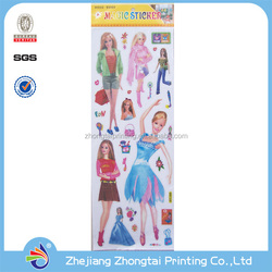 Double sided printing static cling decal sticker
