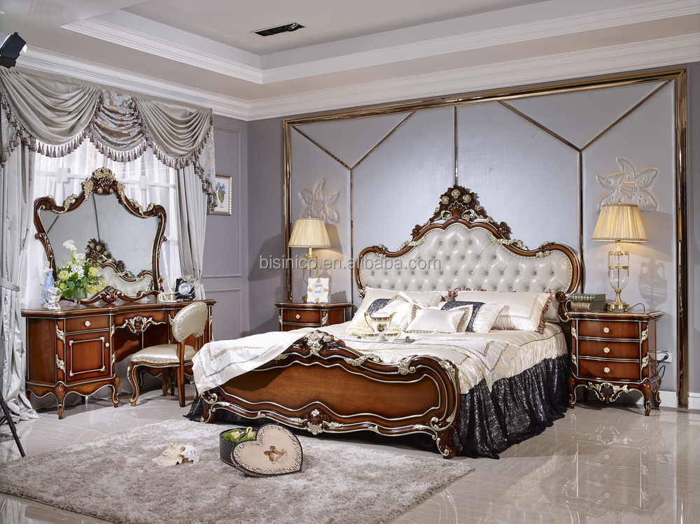 chambre a coucher de luxe alibaba style franais meubles. Black Bedroom Furniture Sets. Home Design Ideas