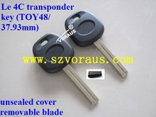 NEW LEXUS REPLACEMENT TRANSPONDER CHIP UNCUT IGNITION KEY BLANK