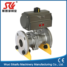 two piece three piece pneumatic ball valve
