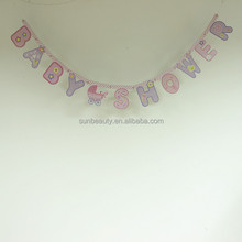 Wholesales baby shower party supplies paper banner