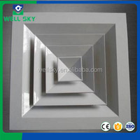 4-way aluminium air diffuser with galvanized damper
