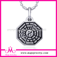 Cast style wholesale fashion stainless steel ancient yin yang pendants for men 2014 Hot product