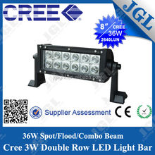 Super hot sale 36w off road led light bar with c.r.ee led chips led work light bar with CE ROHS SGS ISO approved