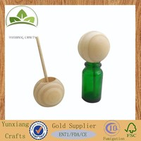 Natural pine Wood ball with rattan core for aroma