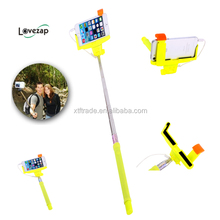 The best selling cable take pole selfie stick with the lowest price for ios android take line direction for use