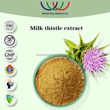 free sample HACCP FDA Kosher China supplier plant extract protecting liver milk thistle seed p.e.,silymarin & silybin