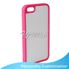 For Iphone 5 Sublimation Blank Phone Case 2D fashion pc+leather phone case for iphone